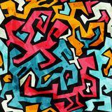 Bright graffiti seamless pattern with grunge effect Stock Photography