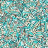 Bright graffiti seamless pattern. Hand draw. Doodle Royalty Free Stock Image