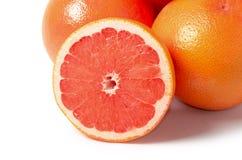 Bright grapefruit isolated on white background Royalty Free Stock Photo