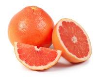 Bright grapefruit isolated on white background Stock Photos