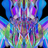 Bright graphics multicolored waves abstraction Stock Photography