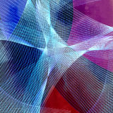 Bright graphics multicolored waves abstraction Royalty Free Stock Photography