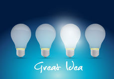 Bright great ideas illustration design Royalty Free Stock Images