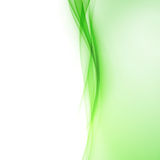 Bright green abstract swoosh wave border line Royalty Free Stock Photos