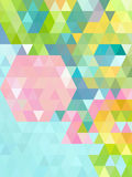 Bright green Abstract triangles background Stock Image