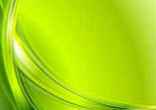 Bright green abstract wavy background Royalty Free Stock Photography
