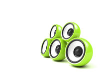 Bright green audio system Royalty Free Stock Images