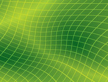 Bright green background with distorted grid Royalty Free Stock Photography