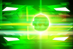 Bright green background with globe Stock Images