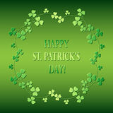 Bright green background - happy saint patrick`s day - vector Royalty Free Stock Image