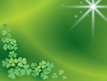 Bright green background with shamrock - vector Royalty Free Stock Photography