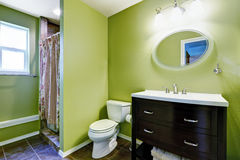 Bright green bathroom interior Royalty Free Stock Images