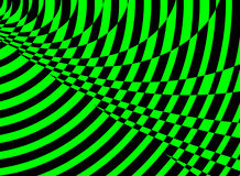 Bright green and black swirl and square geometric background Stock Image