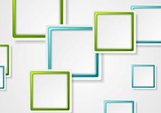 Bright green and blue geometric squares design Royalty Free Stock Photography