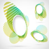 Bright green blue summer design elements Royalty Free Stock Photo