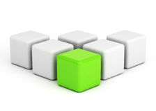 Bright green box leadership Royalty Free Stock Image