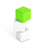 Bright green box leadership concept Stock Photography