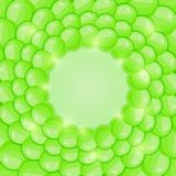 Bright Green Bubble Background Royalty Free Stock Photo
