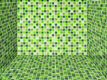 Bright green ceramic Wall and floor Stock Photography