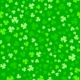 Green clover leaves, seamless pattern. St. Patrick`s Day background Stock Images
