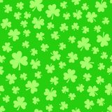 Green clover leaves, seamless pattern. St. Patrick`s Day background Stock Photo