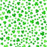 Green clover leaves, seamless pattern. St. Patrick`s Day background Royalty Free Stock Image