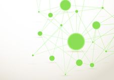 Bright green connected dots background Royalty Free Stock Photos