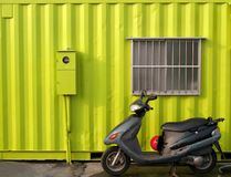 Bright Green Container House Stock Photography