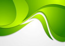 Bright green corporate wavy background Stock Photo
