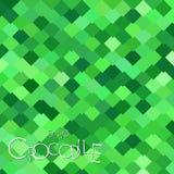 Bright Green Crocodile Scales. Background of bright green rombus crocodiles scales stock illustration