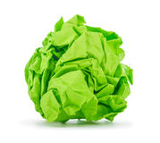 Bright green crumpled paper Stock Photography