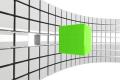 Bright green cube concept Stock Images