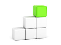 Bright green cube leadership concept Stock Photos
