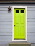 Bright Green Door Royalty Free Stock Photo