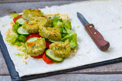 Bright green falafel Stock Photos