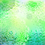 Bright green floral  pattern Stock Images