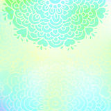 Bright green floral  pattern Royalty Free Stock Images