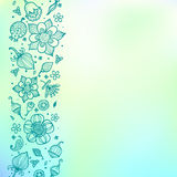 Bright green floral  pattern Royalty Free Stock Photography