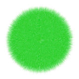 Green fluffy marble on a white background Royalty Free Stock Image