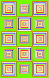 Funky green squares Stock Photos