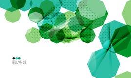Bright green geometric modern design template Stock Photos