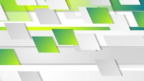 Bright green geometric tech abstract video animation stock footage