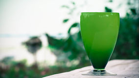 Bright green glass Royalty Free Stock Photos