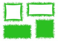Bright green grass banner, frame and background. Vector illustration vector illustration