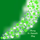 Bright green greeting card for St. Patrick's Day Stock Photography