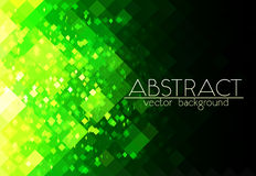 Bright green grid abstract horizontal background Royalty Free Stock Photos