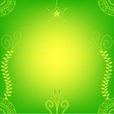 Bright green hindu henna Royalty Free Stock Photography