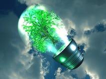 Bright green idea royalty free illustration