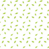 Bright green leaves are falling down. Seamless raster pattern. Stock Photo