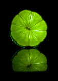 Bright green natural lime Stock Image
